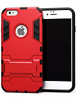 Para Funda iPhone 6 / Funda iPhone 6 Plus Antigolpes / con Soporte Funda Cubierta Trasera Funda Armadura Dura MetaliPhone 6s Plus/6 Plus
