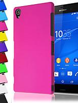 Для Кейс для Sony / Xperia Z3 Матовое Кейс для Задняя крышка Кейс для Один цвет Твердый PC для Sony Sony Xperia Z3