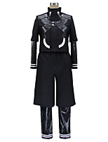 Inspired by Cosplay Cosplay Anime Cosplay Costumes Cosplay Suits Patchwork Black Long Sleeve Coat Leotard Pants For