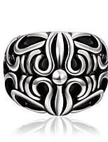 Vintage 316L Stainless Steel Carving Cross Ring Punk Personality Rings for Men Anel Masculino Anelli Jewelry R029