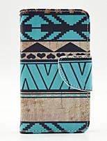 Für Nokia Hülle Geldbeutel / Kreditkartenfächer / mit Halterung Hülle Handyhülle für das ganze Handy Hülle Geometrische Muster HartPU -