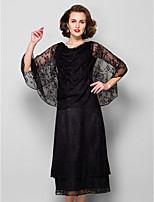 Women's Wrap Capes Sleeveless Lace Black Wedding / Party/Evening / Casual Scoop Lace Pullover