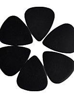 Medium 0.71mm Guitar Picks Plectrums Celluloid Solid Black 100Pcs-Pack