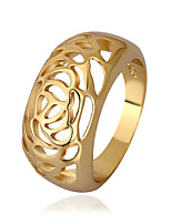 Fashion Rose Shape Environmental Protection Material Alloy Woman's Ring(Gold Palting,Rose Gold Plating)(1Pc)