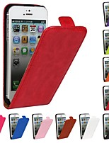 Genuine Crazy Horse PU Leather Slim Light Flip Case Cover for iPhone 5/5S