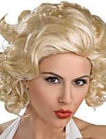 Europe And The United States The New Costume Party Golden Short Curly Wig