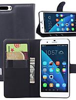 Para Funda Huawei Cartera / Soporte de Coche / con Soporte / Flip Funda Cuerpo Entero Funda Un Color Dura Cuero Sintético HuaweiHuawei