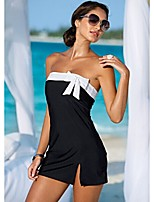 Women's Sexy Butterfly Decoration One Suit Halter Swimming Dress