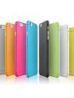 Para Funda iPhone 7 / Funda iPhone 7 Plus / Funda iPhone 6 / Funda iPhone 6 Plus Ultrafina Funda Cubierta Trasera Funda Un Color Dura
