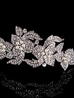 Vintage Design Wedding Bride Crystal Flowers Hair Accessior Handband