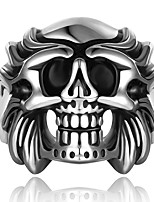 New Fashion 316L Stainless Steel Skeleton Rings Men Punk Vintage Domineering Skull Ring anel Jewelry