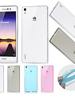 BIG D Utral Thin TPU Transparent Soft Case for Huawei P7(Assorted Color)
