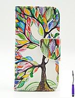 Für LG Hülle Kreditkartenfächer / Geldbeutel / mit Halterung / Flipbare Hülle Hülle Handyhülle für das ganze Handy Hülle Baum HartPU -