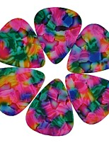 Medium 0.71mm Guitar Picks Plectrums Celluloid Tie Dye Pink   100Pcs-Pack
