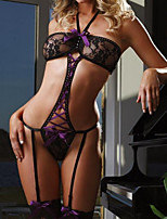 Women's Super Sexy Mesh Transparent Badydoll With G-strings
