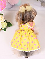 Lovely Small Fresh Heart Pattern Doll Dresses for Pets Dogs (Assorted  Sizes)