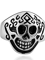 Men Vintage Gothic Punk Jewelry 316L Skull Stainless Steel Mask Ring Anello Uomo US Size 7-9 Party Love