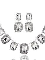 Women's Chain Necklaces Geometric Rhinestone Zinc Alloy Rhinestone Geometric Jewelry ForWedding Party Special Occasion Birthday