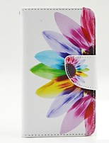 Beautiful Petals Pattern PU Leather Case Cover with A Touch Pen ,Stand and Card Holder for LG L70