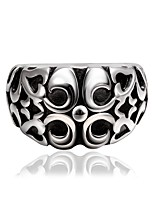 Vintage Punk Simulated Thailand Silver R030-8Stylish Wholesale Various Styles 316L Stainless Steel Punk Ring