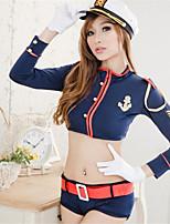 Women's Cotton Blend Police Uniforms Ultra Sexy/Suits Nightwear/Lingerie