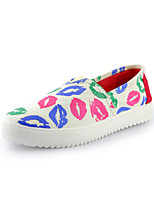 Women's Shoes Canvas Platform Creepers Loafers Office & Career/Casual White