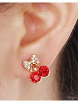 European Diamond Cherry Alloy Ear Cuffs(1Pc)
