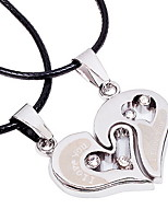 Popular Alloy Heart Leather Necklace in Daily