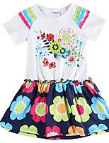 Girl's Dresses Short Sleeve Kids Princess Dress Children Dresses(Random Printed)