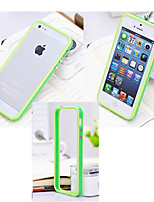 Para Funda iPhone 5 Antigolpes Funda Acolchada Funda Un Color Dura Silicona iPhone SE/5s/5