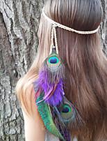pavão headband da pena, americano, headband trançado nativa, headband indiano, cocar de pavão, hairband heather