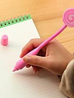 Curve Lollipop Stylish Multi Color Ballpoint Pen (Random Delivery)