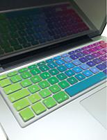 coosbo® italiano colorida piel de la cubierta del teclado del silicón eu diseño para 13