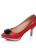 Women's Shoes Cone Heel Comfort / Pointed Toe Heels Office & Career / Dress / Casual Blue / Red / Silver / Gold