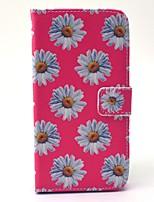 Pour Samsung Galaxy Coque Portefeuille Porte Carte Avec Support Coque Coque Intégrale Coque Fleur Dur Cuir PU pour SamsungS6 edge S6 S5
