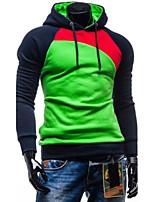 Conjuntos Activewear De los hombres Casual/Trabajo Un Color - Mezcla de Algodón - Manga Larga