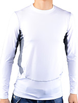 Men's 1029 PRO Sport Tight Quick Dry Anti-sweat Long Sleeve Cycling Jersey Top - White + Gray
