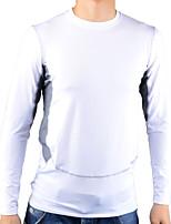 Tops ( Blanc/Gris )- Respirable/Séchage rapide/mèche à Manches longues pour Homme