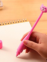 Cute Cartoon Curve Cat Stylish Multi Color Ballpoint Pen (Random Delivery)