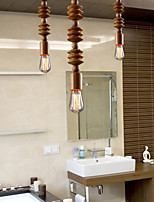 Chandeliers Mini Style Traditional/Classic Living Room/Bedroom/Dining Room/Study Room/Office Wood/Bamboo