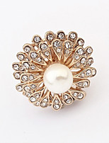 Vintage/Cute/Party Gold Plated/Alloy/Cubic Zirconia/Imitation Pearl Multi Finger Ring