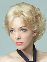 Bobo Wigs White Women European Synthetic Black Women U Part Wig Natural Short Blonde Wig