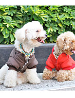 Hot Sale Red/Brown WindProof 3 Layer Snow Velvt Cotton Reversible Coats For Dogs Pets