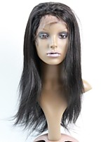 Brazilian Human Hair Front Lace Wigs 130% #1 #1B #2 #4 Straight Glueless Wigs Hair 10