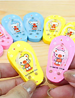Cute Teddy Bear Slippers Eraser(Random Color)