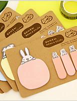 Animal 2 Shapes Kraft Paper Self-Stick Note(Random Color)