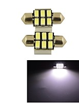 Carking™ Festoon 31mm-5630-6SMD Car LED Rome Lamp White Light (12V/2PCS)