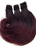 1pcs 8inch peruanisches reines Haar ombre Haarverlängerungen Körperwelle Farbe 1b / 99g Haar spinnt
