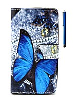 For Wiko Case Wallet / Card Holder / with Stand / Flip / Pattern Case Full Body Case Butterfly Hard PU Leather Wiko