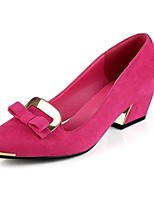 Women's Shoes Chunky Heel Pointed Toe Pumps Dress Black/Blue/Green/Pink